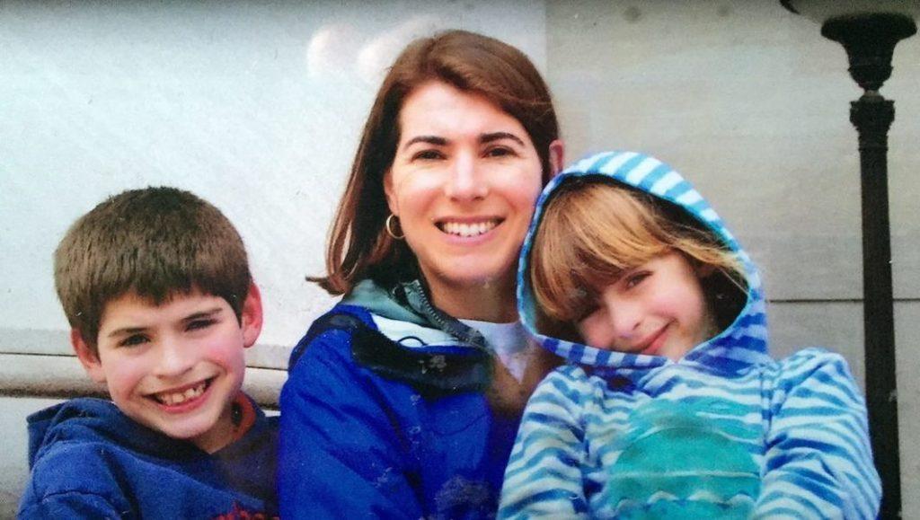 Anne Richardson, owner of Richardson Media Group, with her children.