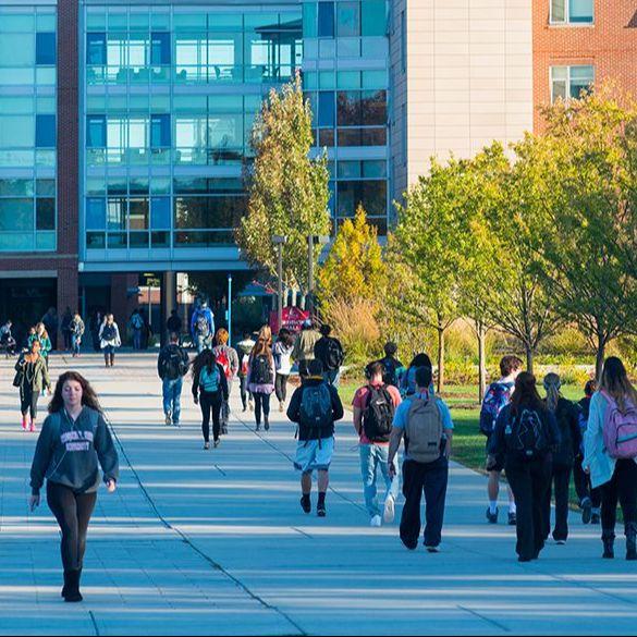 Bridgewater State University campus photo.